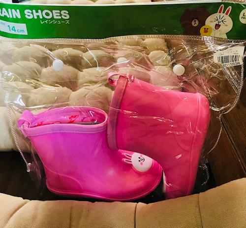 粉色CONY 小小女童雨鞋