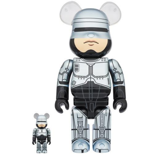 大男孩必收藏-BE RBRICK庫柏力克熊 機器戰警版 400% / 100%