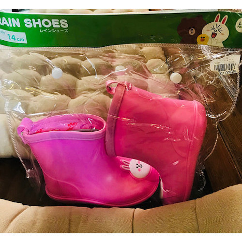 LINE FRIENDS  粉色CONY 小小女童雨鞋